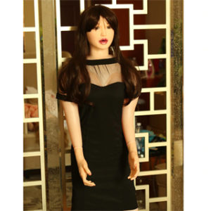 Black Dress Hot Semi Silicone Sex Doll