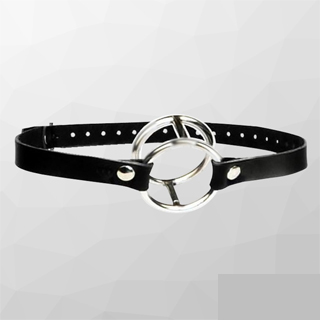 Double Metal Ring Chastity Neck Collar