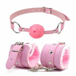 Pink Handcuffs And Mouth Ball